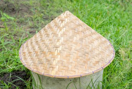 Vietnamese conical hat (Non La). Close-up image.