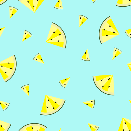 Watermelon pattern on blue background.