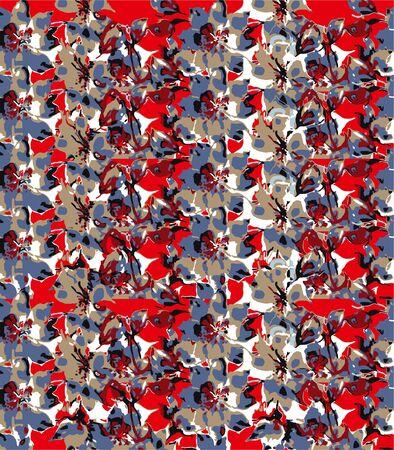 colorful floral pattern image background .. Foto de archivo