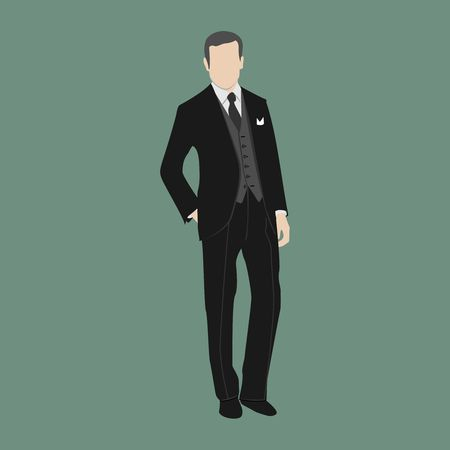 businessman standing with hand in the pocket
