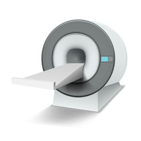 Clean White MRI Machine