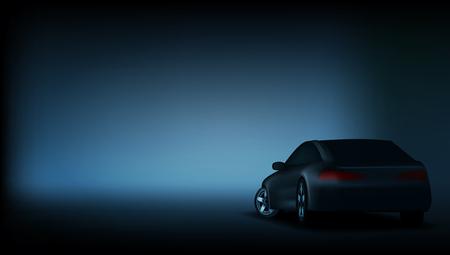 Realistic Elegant Luxury Car Banner Template.