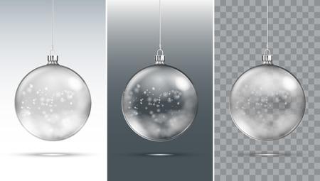 Transparent Christmas Ball Vetores