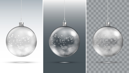 Transparenter Weihnachtsball Vektorgrafik