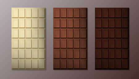 Three Dark Chocolate Bar Pattern Set
