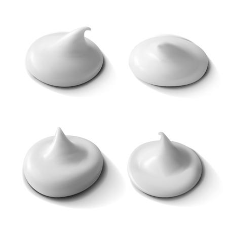 Realistic Cream Set Isolated On White Background. EPS10 Vector Illustration