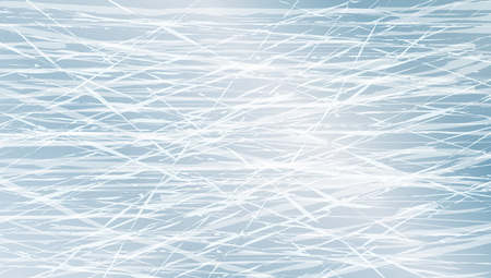 Blue Ice Texture. Winter Games Rink Top View. EPS10 Vector