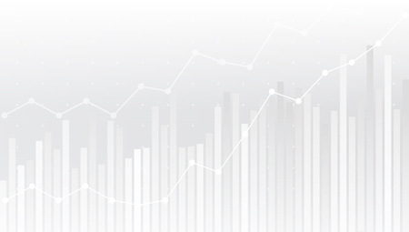 White Abstract Simple Uptrend Financial Chart Background.