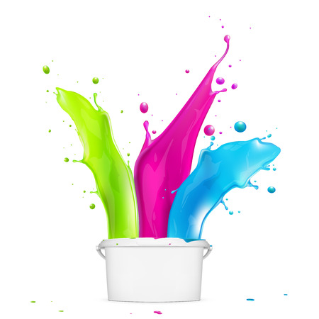 Realistic Colourful Abstract Paint Splash