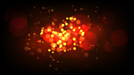 Gold Glitter Vintage Bokeh Lights Background 向量圖像