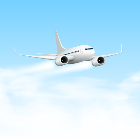 3D Abstract White Airplane Isolated. EPS10 Vector 矢量图像