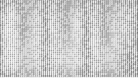 Achtergrond met kleurovergang binaire code cijfers