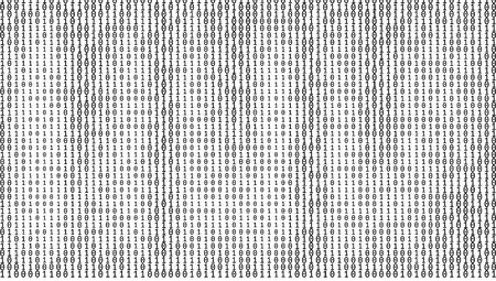 Gradient Binary Code Digits Background 矢量图像