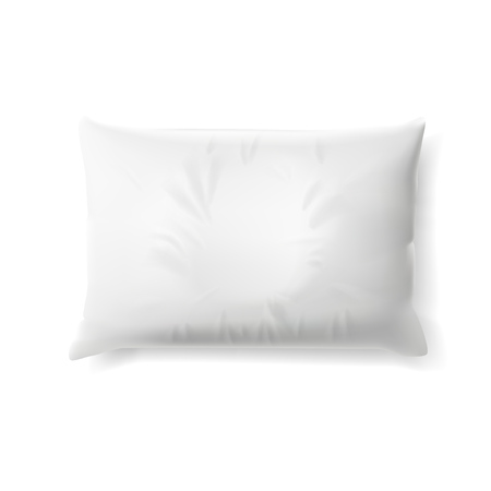 White Soft Pillow With Shadow. EPS10 Vector