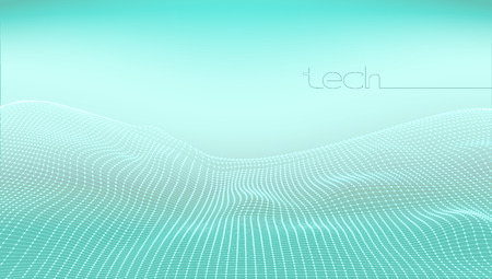 Abstract 3D Digital Grid Terrain Landscape Background. EPS10 Vector