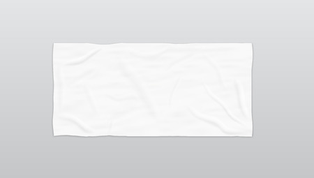 Clear White Soft Beach Towel For Branding. EPS10 Vector