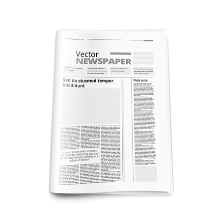 Realistic Newspaper Or News Magazine Abstract Template. EPS10 Vector
