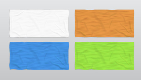 Clear Color Soft Beach Towels For Branding. EPS10 Vector