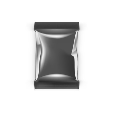 Clean Foil Aluminium Packing Isolated On White Иллюстрация