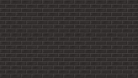 Vintage Style Old Dark Brick Wall Background. EPS10 Vector