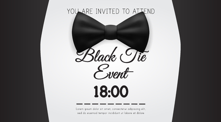Business Card Elegant Black Tie Event Invitation Template. EPS10 Vector 일러스트