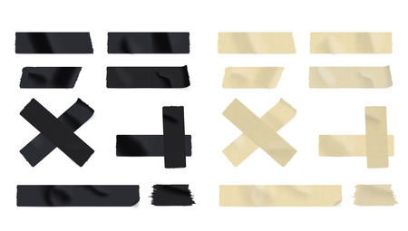 Realistic Adhesive Multy Color Tape Big Set