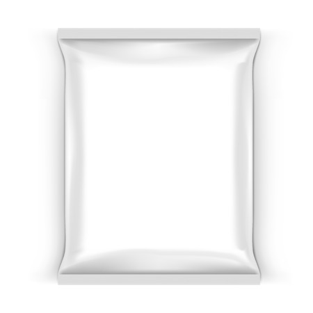 Food Snack Pillow White Bag For Branding