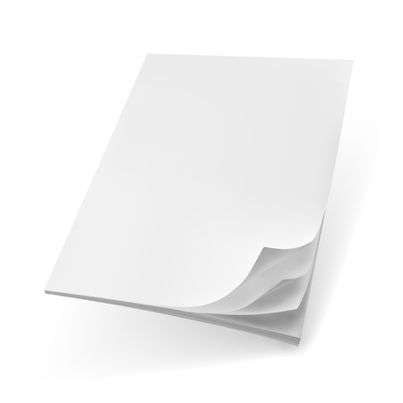 Blank Cover Of Magazine, Book, Booklet Or Brochure Fly Template. EPS10 Vector