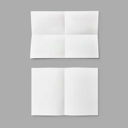 Folded Paper Sheet Note With Transparent Shadow