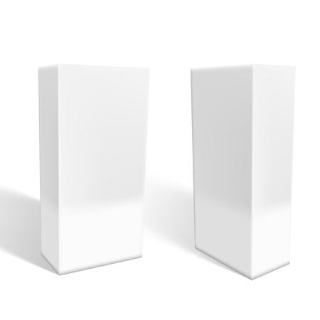 Satz kleine weiße Kartons mit Schatten. EPS10 Vektor Vektorgrafik