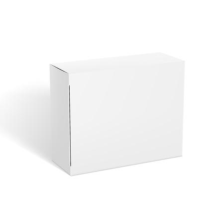 3D-realistische doorzichtige witte pakketdoossjabloon