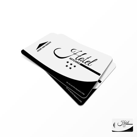 Two Realistic Hotel Keycard On White Table