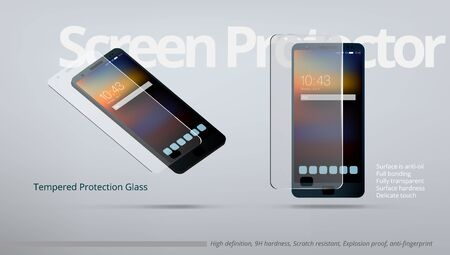 Screen Protector Tempered Transparent Glass AD Template.