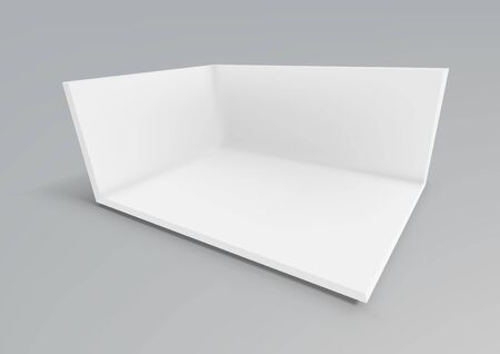 3D White Empty Promotional Event Show Room