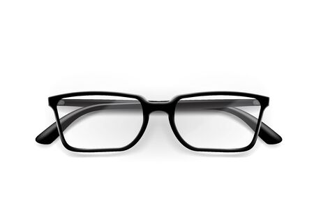 Black Office Glasses With Shiny Frame For Work