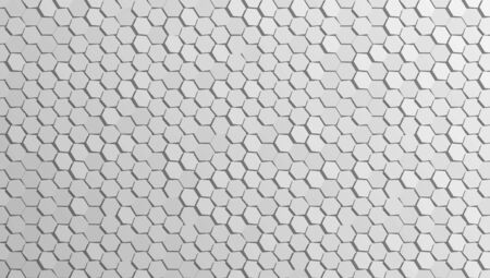 3D Abstract Cellular Hexagonal Wall Background. EPS10 Vector