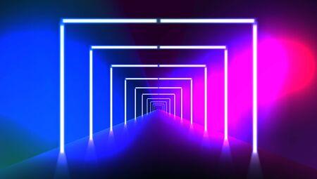 Abstract Night Club Laser Show Corridor Interior Çizim
