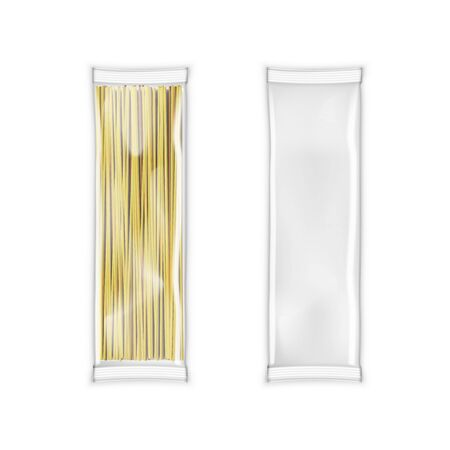 Transparent Plastic Bag White Package For Pasta Çizim