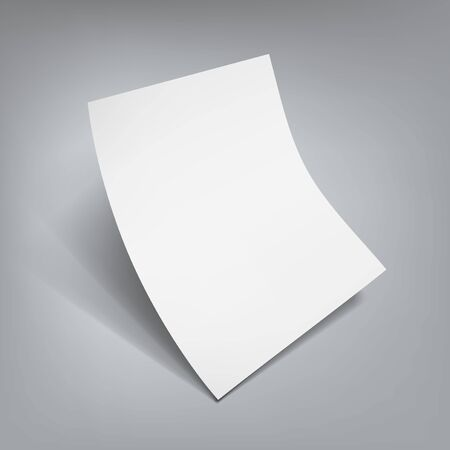 White Clear Flying Sheet Of Paper With Shadow Çizim