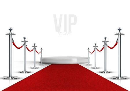 Vip Event Red Carpet With Chrome Barriers