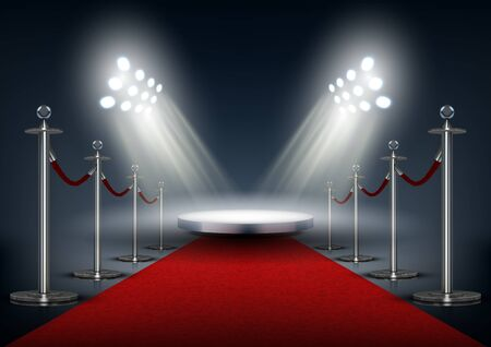 Vip Event Red Carpet With Round Stage