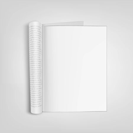 Open Blank Paper Journal With Clear Page