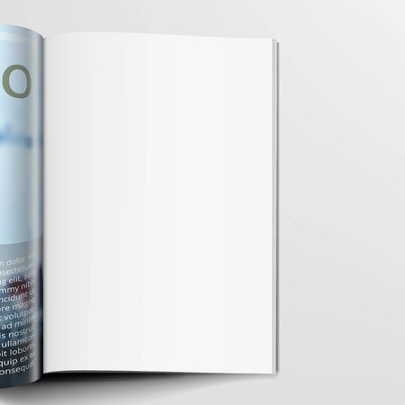 3D Realistic Magazine With Clear White Page Çizim