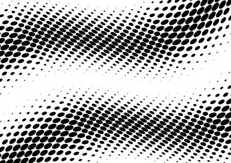 3D Abstract BW Halftone Modern Dotted Back