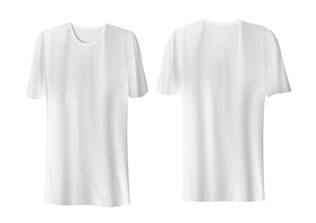 Blank Clear White T-Shirts On White Background