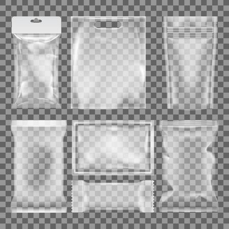 3D Transparent Empty Glossy Plastic Food Packaging Иллюстрация