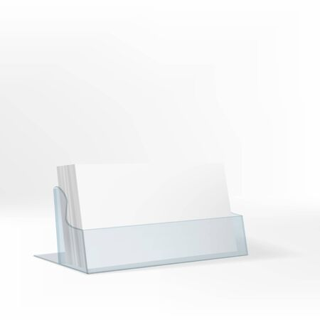 Blank Flyer Glass Or Plastic Transparent Stand Illustration