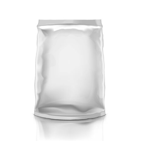 3D Fat Full Clear White Plastic Packaging 向量圖像