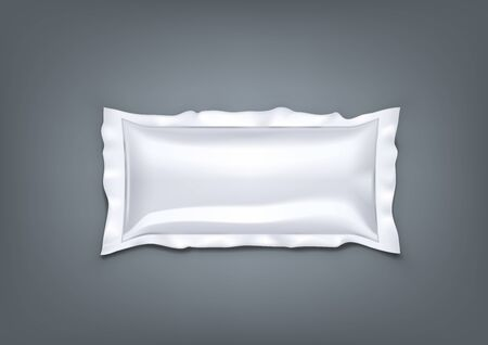 Realistic Air Inflatable Packaging Soft Buffer Plastic Bag. EPS10 Vector