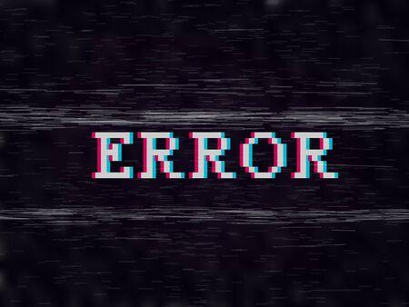Error Pixel Style Glitch VHS Retro Effect. EPS10 Vector
